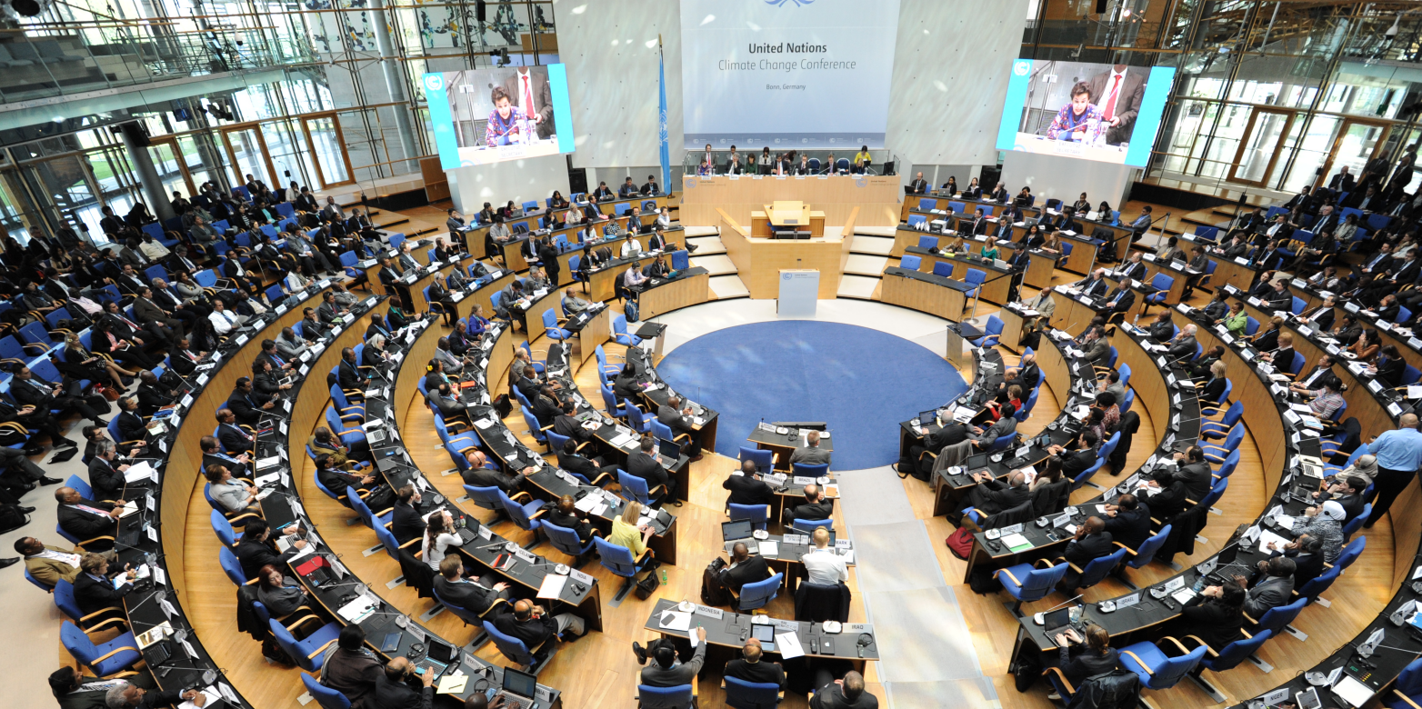 Delegates at the Bonn Climate Change Conference of the United Nations Framework Convention on Climate Change (UNFCC) in March 2014. Image courtesy of the UNFCC via Flickr.